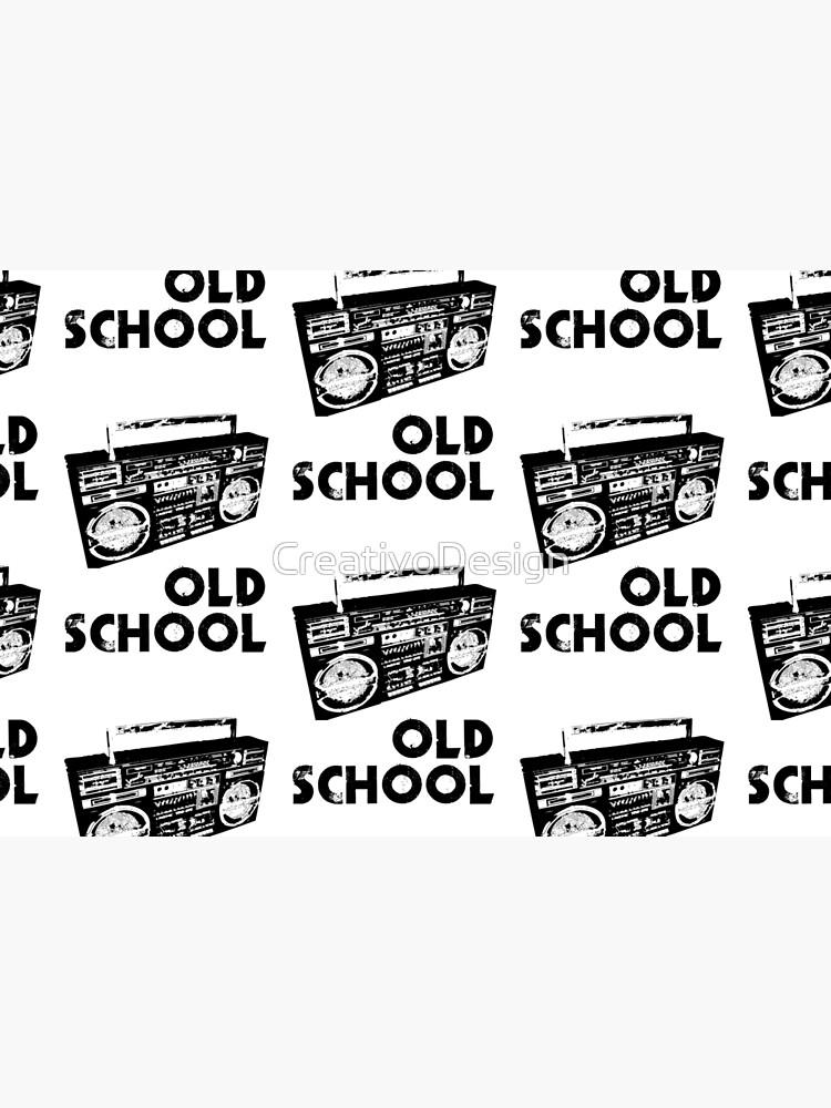 Old School - Boom Box  by CreativoDesign