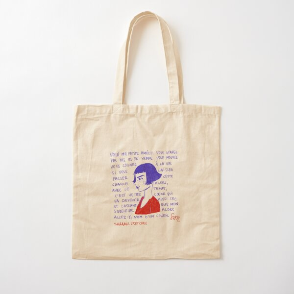 Amélie Poulain Bolsa de algodón