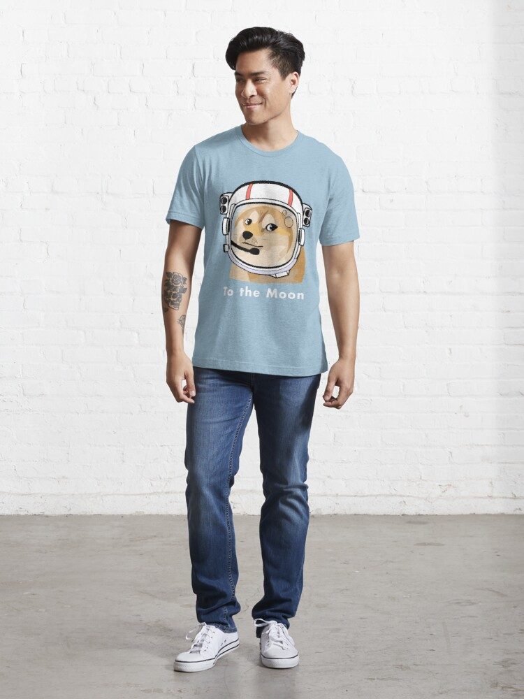Alternate view of Doge to the moon Essential T-Shirt
