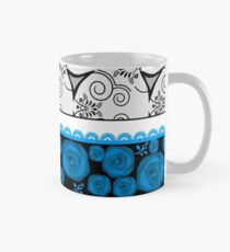 Seamless lace ribbon pattern texture textile background Mug