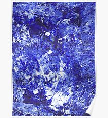 Blue Acrylic on Canvas Poster