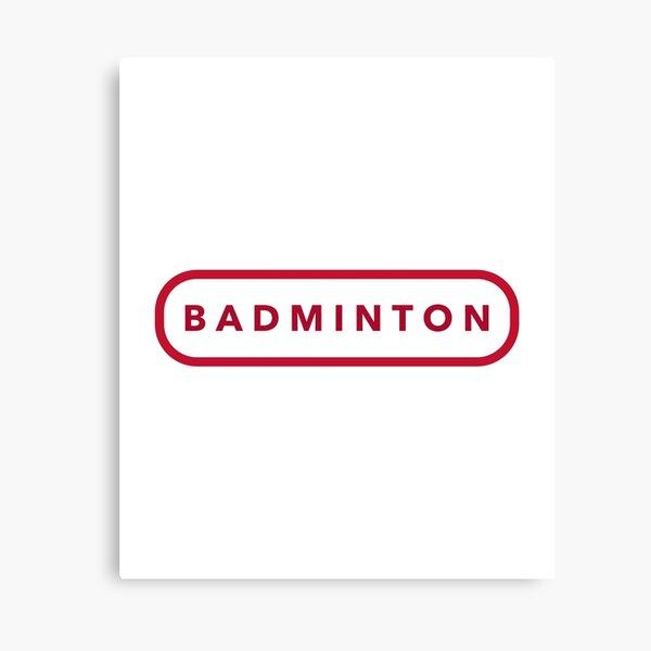 Badminton Logo Canvas Print