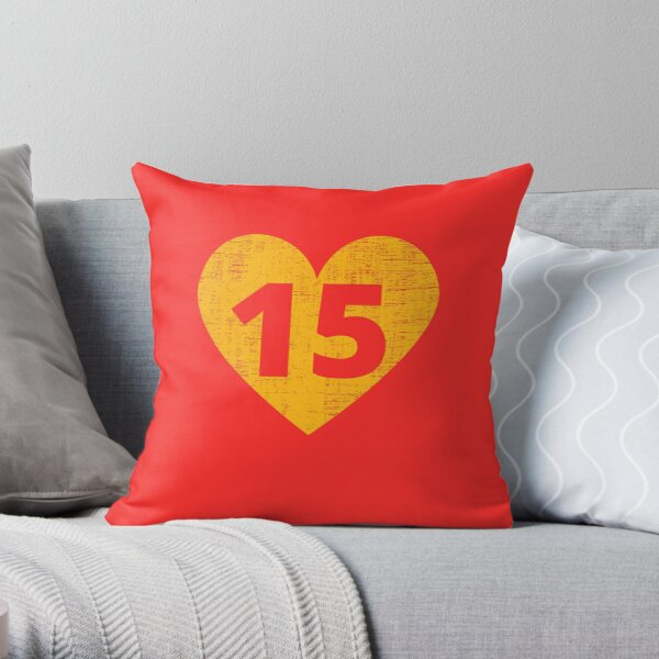 Heart KC 15 Throw Pillow
