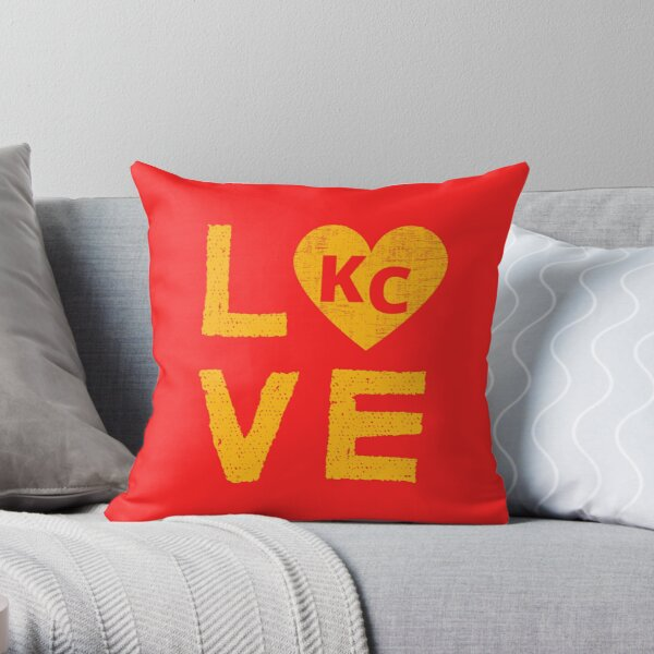 Love KC Heart KC Throw Pillow