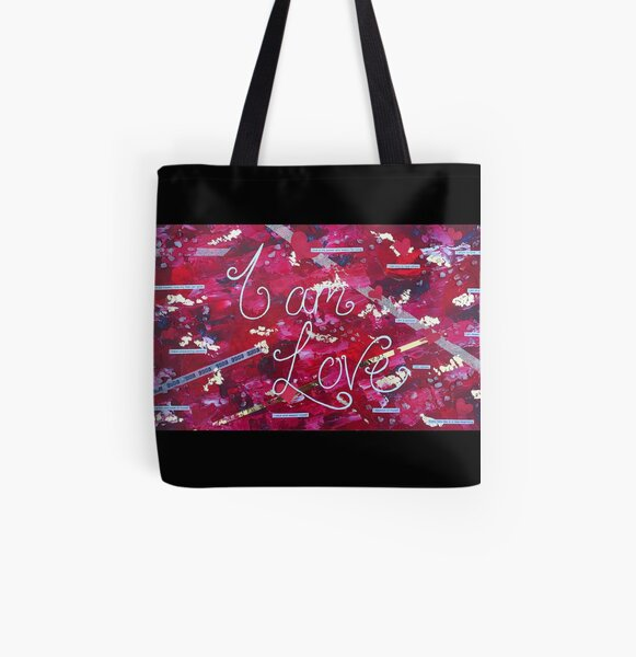 I am... Love All Over Print Tote Bag