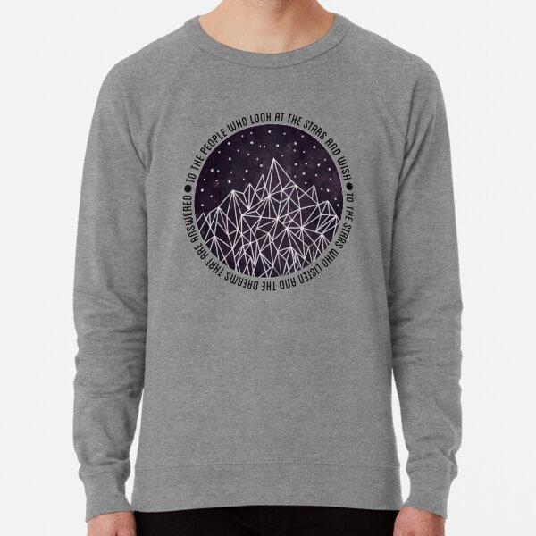 """Look At The Stars And Wish"" - Night Court Print Lightweight Sweatshirt"