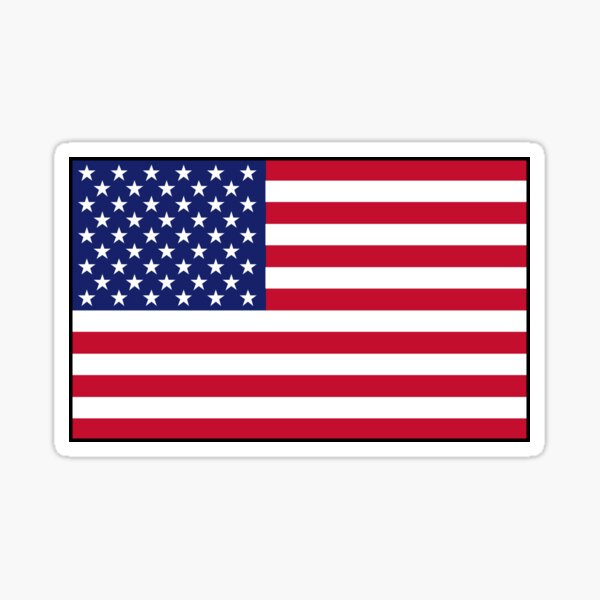 American flag Sticker