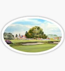 Sunningdale Golf Club 18th Green and Clubhouse Sticker