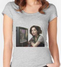 Bjork AESTETIC tv Women's Fitted Scoop T-Shirt