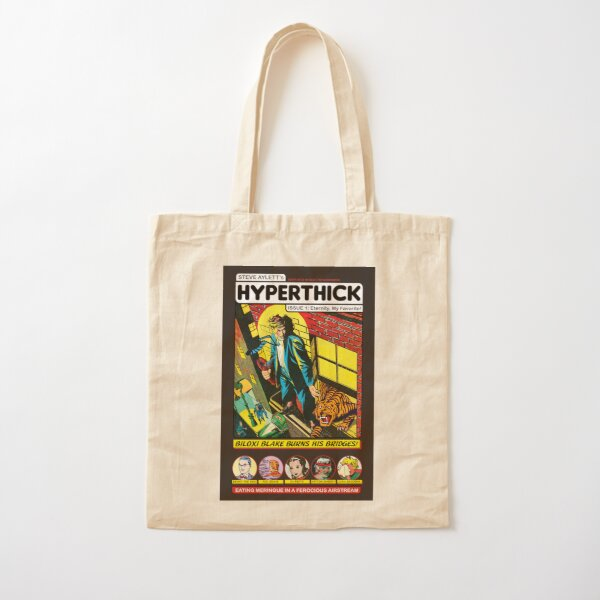 HYPERTHICK comic issue 1 cover - Steve Aylett Cotton Tote Bag