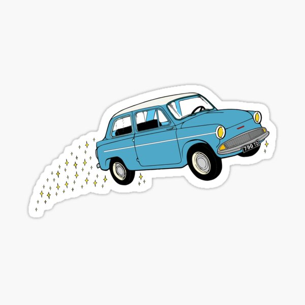 Harry Ford Anglia Flying Car  Sticker