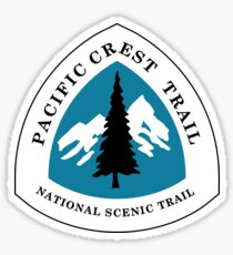 Pegatina Pacific Crest National Scenic Trail Sign, Estados Unidos