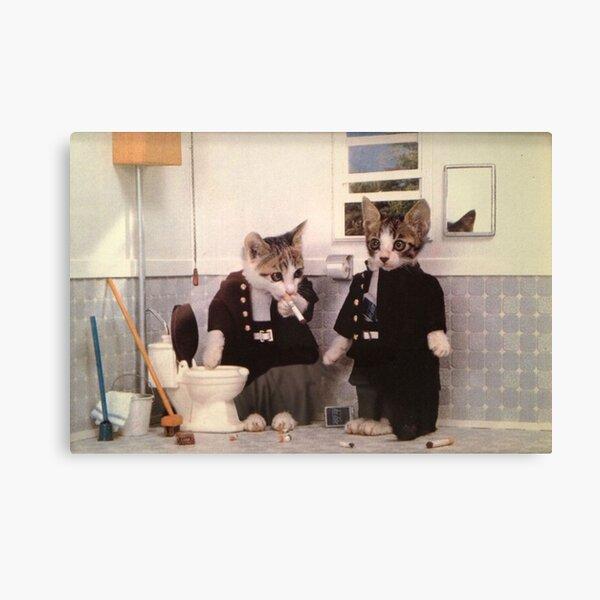 Smoking Kittens Canvas Print