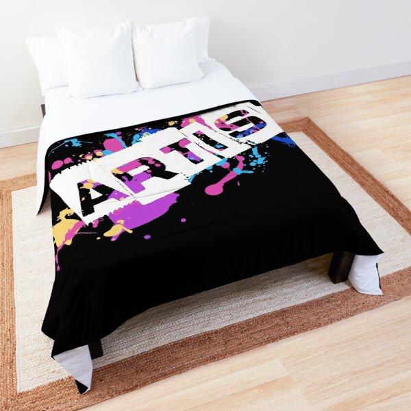 Badass Artist Graphic Text on Messy Paint Splatter Comforter