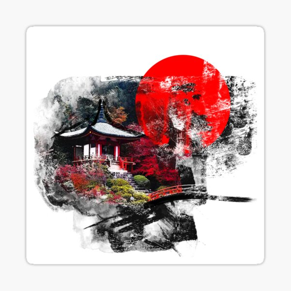 Kyoto Abstract Sticker