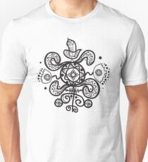 Authentic ethnic illustration with natural ornaments, animals Unisex T-Shirt