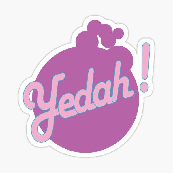 Yedah! Retro Style Sticker