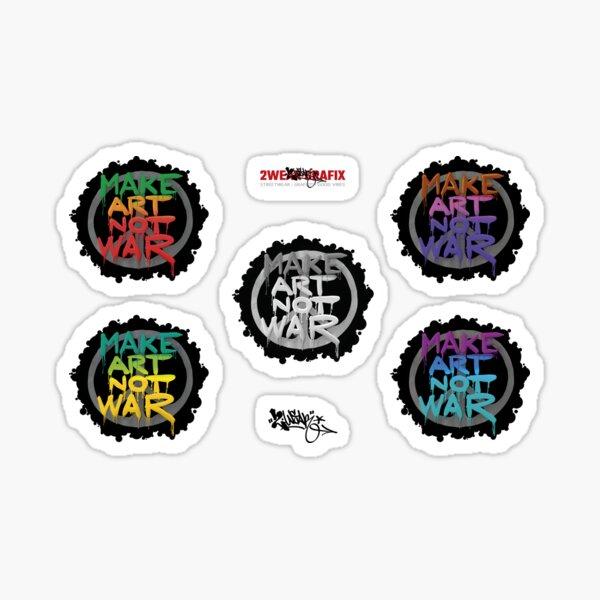 Make Art Not War Stickers Set 1 Sticker