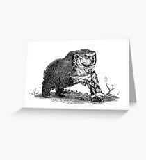 Medieval Owlbear Greeting Card