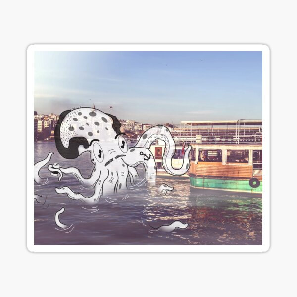 Imaginary Octo-Friend by Kale Atterberry Sticker
