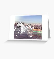 Imaginary Octo-Friend by Kale Atterberry Greeting Card