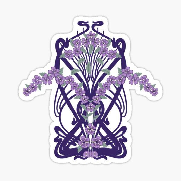 Art Nouveau Inspired Violets Sticker