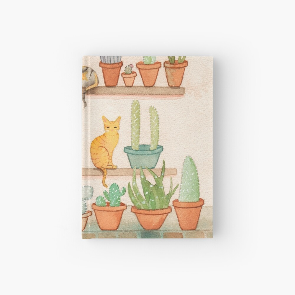 Cats and Cacti Hardcover Journal
