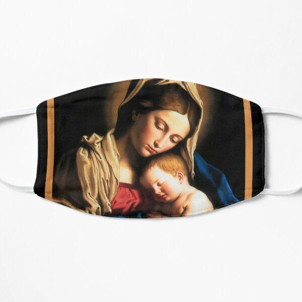 virgin mary holy art Flat Mask
