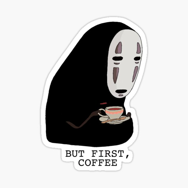 Café NoFace Sticker