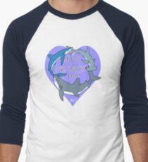 Girls Love Sharks Too! Men's Baseball ¾ T-Shirt