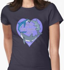 Girls Love Sharks Too! Women's Fitted T-Shirt