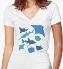 Rays! Women's Fitted V-Neck T-Shirt