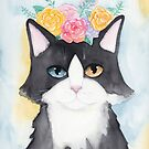 Springtime Tuxedo Cat by Ryan Conners