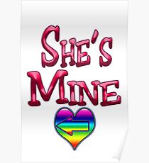 She's Mine (Arrow Pointing Left) Poster