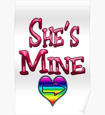 She's Mine (Arrow Pointing Right) Poster
