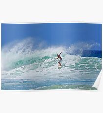 Guy Surfing Puerto Rico Poster