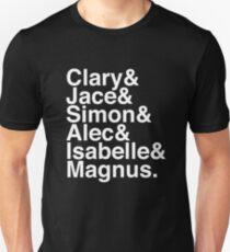 Clary & Jace & Simon & Alec & Isabelle & Magnus. (The Mortal Instruments) (Inverse) T-Shirt