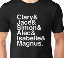 Clary & Jace & Simon & Alec & Isabelle & Magnus. (The Mortal Instruments) (Inverse) Unisex T-Shirt