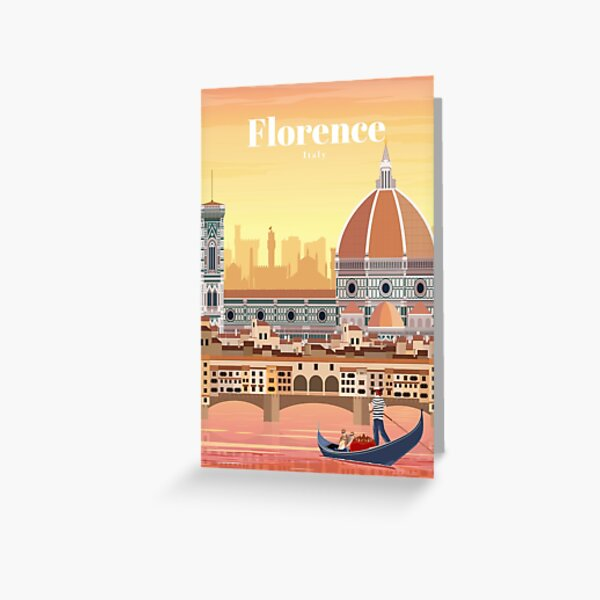 Traveling to Florence Italy  Greeting Card