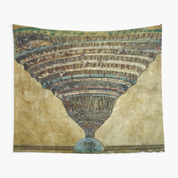 Chart of Hell (between 1480 and 1490) by Sandro Botticelli Tapestry