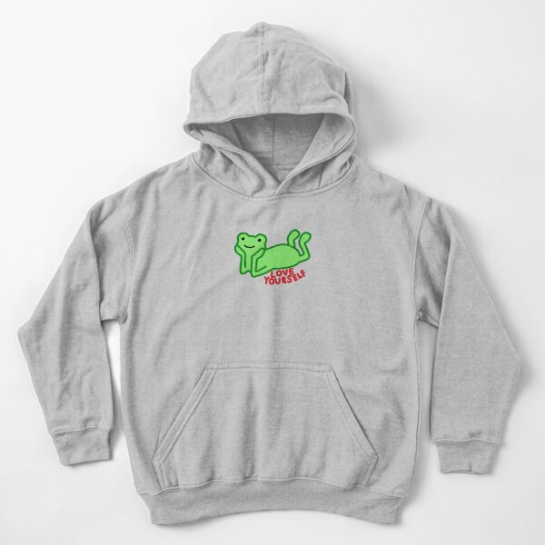 Love yourself positivity frog Kids Pullover Hoodie