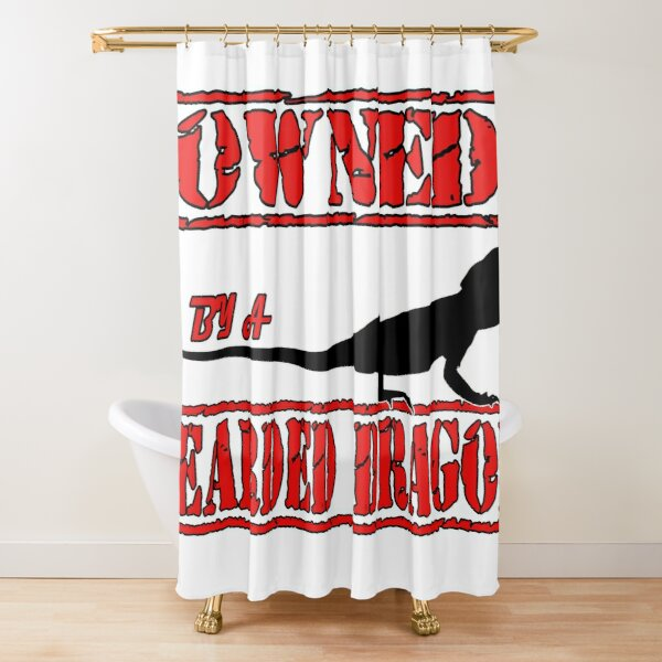 Owned By A Bearded  Shower Curtain