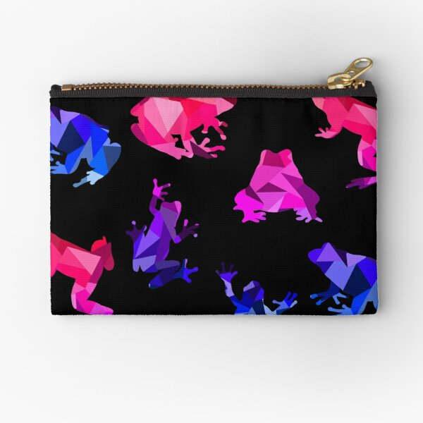 Bisexual Themed Geometric Frogs Zipper Pouch
