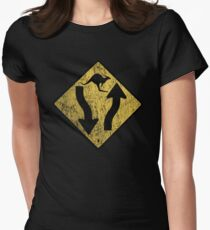 Kangaroo Sign - Urban Grunge Womens Fitted T-Shirt