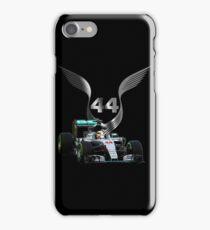 Lewis Hamilton 2016 F1 car driving iPhone Case/Skin