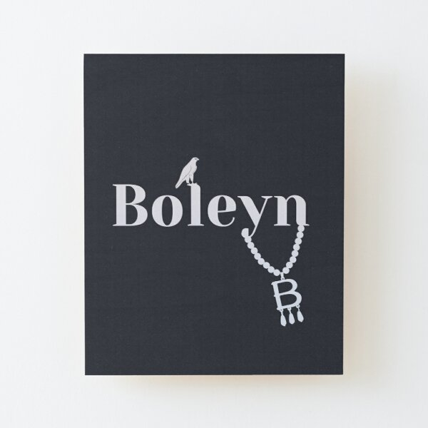 Anne Boleyn necklace falcon Wood Mounted Print