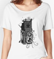 Retro Rolleiflex - Evolution of Photography - Vintage Women's Relaxed Fit T-Shirt