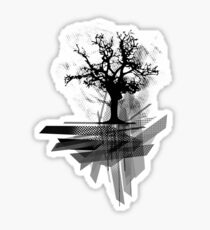 Grunge Tree Sticker