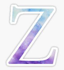 Zeta Blue Watercolor Letter Sticker