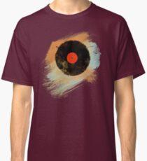 Vinyl Record Retro T-Shirt - Vinyl Records Modern Grunge Design Classic T-Shirt